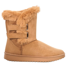 SHELOVET Varmt sne støvler brun