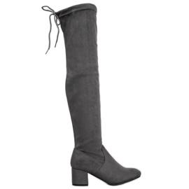 Seastar Grå lårhøj støvler
