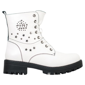 Goodin White Trappers With Stars hvid