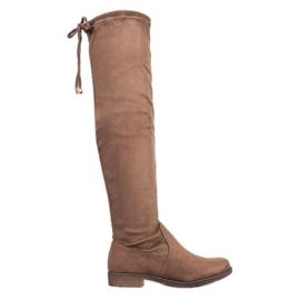 J. Star Ruskind Lårhøje støvler brun