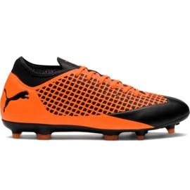 M Puma Future 2.4 Fg Ag 104839 02 fodboldstøvler appelsin sort, orange