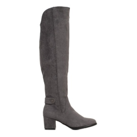 Goodin Varme støvler over knæet grå