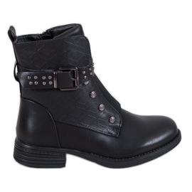 J. Star Sorte støvler med elastisk bånd