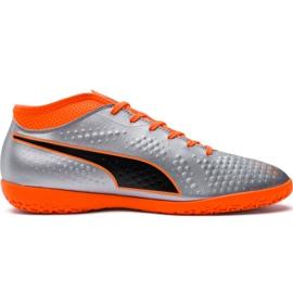 M Puma One 4 Syn It 104750 01 fodboldstøvler sølv orange, grå / sølv