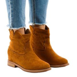NC981 cowboy støvler brun