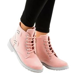 Pink ruskind flade støvler TL93-4