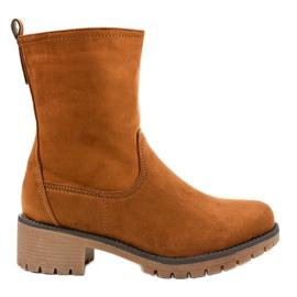 Brun ruskind med høje støvler 8B905