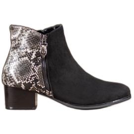 Kylie Sort Støvler Snake Print