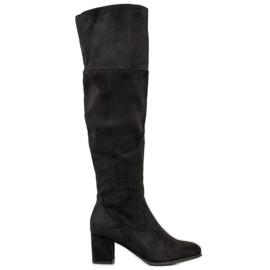 Clowse Støvler med høj ruskind sort