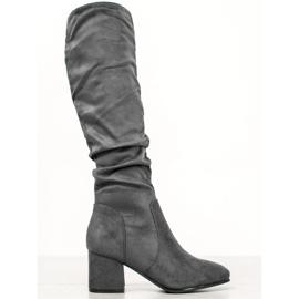 Seastar Grå knæhøje støvler