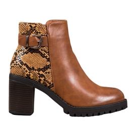 Seastar Støvler på Snake Print Platform brun