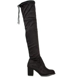 J. Star Slip-on høje støvler sort