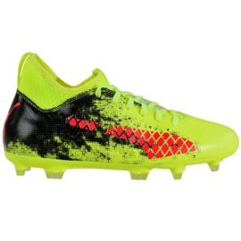 Puma Future 18.3 Fg Ag Jr 104332 01 fodboldstøvler grøn sort, rød, grøn