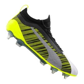 Puma One 5,1 Mx Sg Fg M 105615-02 fodboldstøvler hvid, sort, gul flerfarvede