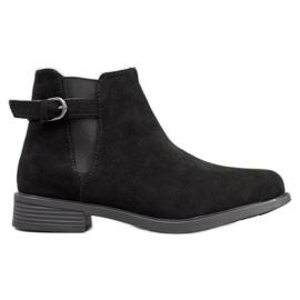 Ideal Shoes Suede Støvler sort