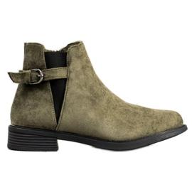 Ideal Shoes Suede Støvler grøn