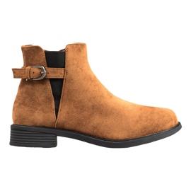 Ideal Shoes Suede Støvler brun