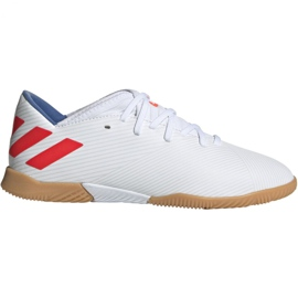 Adidas Nemeziz Messi 19.3 I Jr F99932 fodboldsko hvid hvid, rød