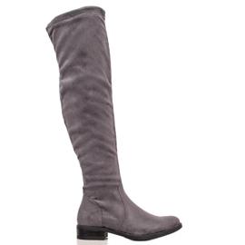 Super Mode Ruskindstøvler grå