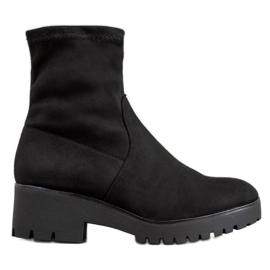 SHELOVET Sorte støvler på platformen