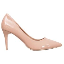 Kylie Klassiske pumper med Eco-læder brun