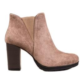 SHELOVET Slip-on ankelstøvler brun