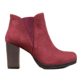 SHELOVET Slip-on ankelstøvler rød