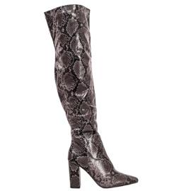 Seastar Støvler over knæet slangetryk