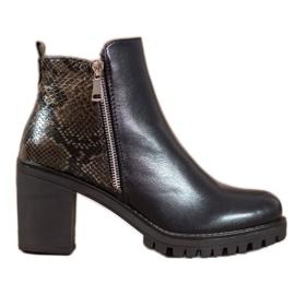 Seastar Støvler på Snake Print Platform sort