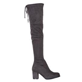 J. Star Slip-on høje støvler grå