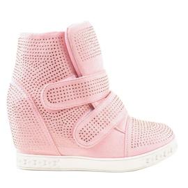 Pink Wedge sneakers KLS-112-4