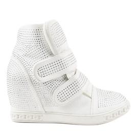 Hvide kile sneakers KLS-112-3