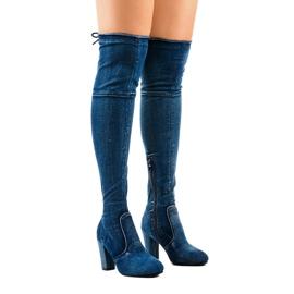 Klassiske denimstøvler HX15135-3B blå