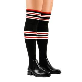 Sorte lårestøvler sokker FD-69