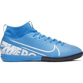 Nike Mercurial Superfly 7 Academy Ic Jr AT8135 414 fodboldsko blå hvid, blå