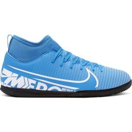 Nike Mercurial Superfly 7 Club Ic Jr AT8153 414 fodboldsko hvid, blå blå