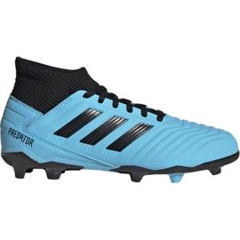 Adidas Predator 19.3 Fg Jr G25796 fodboldsko blå sort, blå