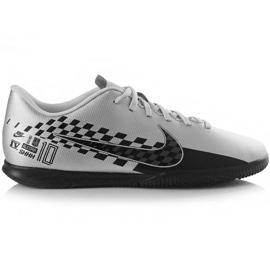 Nike Mercurial Vapor 13 Club Neymar M Ic AT7998 006 fodboldsko grå sort, grå / sølv