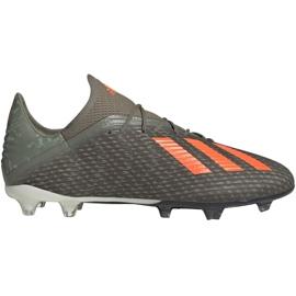 Adidas X 19.2 Fg M EF8364 fodboldsko grøn grå