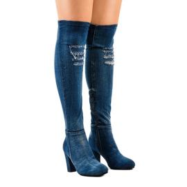HX15135-96 jeans med rip navy