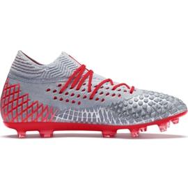 Puma Future 4.1 Netfit Fg Ag M 105579 01 fodboldsko rød, grå / sølv grå
