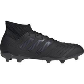 Adidas Predator 19.2 Fg M F35603 fodboldsko sort sort