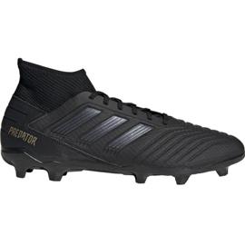 Adidas Predator 19.3 Fg M F35594 fodboldsko sort sort