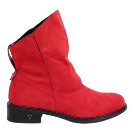 Støvler med krøllet overdel rød 6672 rød