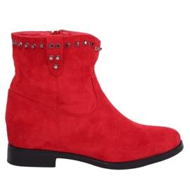 Røde støvler på en skjult kil rød G-7606 rød