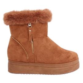Sne støvler med pels kamel PP-30 Camel brun
