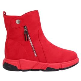Røde støvler i en sporty stil SJ1938 Rød