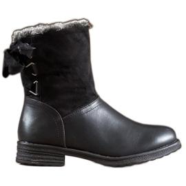 SHELOVET Varme støvler med pels sort