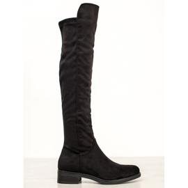 Seastar Sort knæhøje støvler