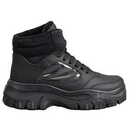 SHELOVET Mode snøre-ankelstøvler sort